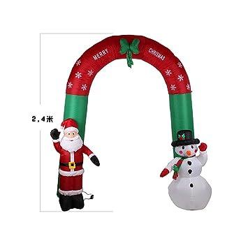 Amosfun - Arcos hinchables de 2,4 m para decoración de Navidad de ...