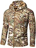 Camo Coll Men's Outdoor Soft Shell Hooded Tactical Jacket (XL, Dark Gray)