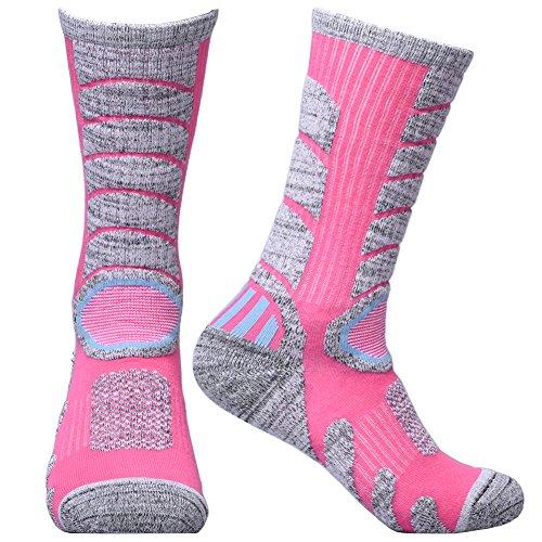 Large Product Image of WEIERYA Womens 2 Pairs Multi Performance Outdoor Sports Hiking Trekking Crew Socks