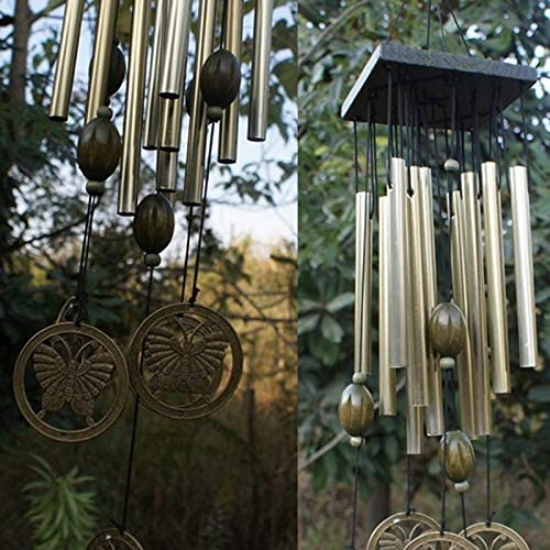 Boyuanweiye001 風チャイムベル銅12xTubesアウトドア庭ガーデンホームデコレーションオーナメント