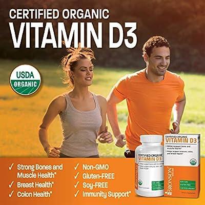 High Potency Vitamin D3 10,000 IU Certified Organic Vitamin D Supplement, Non-GMO Gluten Free USDA Certified Formula, 360 Tablets