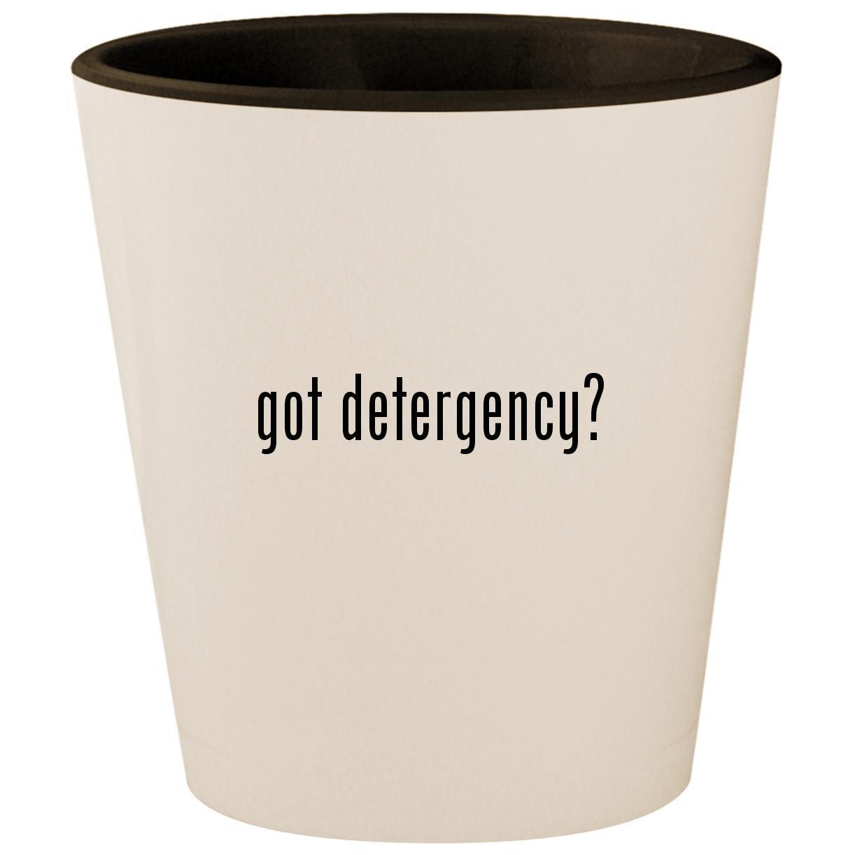 got detergency? - White Outer & Black Inner Ceramic 1.5oz Shot Glass