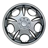 2009 toyota corolla s hubcaps - TuningPros WC2-15-5032-S 15-Inches-Silver Improved Type II Hubcaps Wheel Skin Cover Set of 4