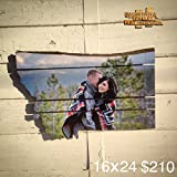 Put Your Photo on a Montana Pallet 16x24 !00% Pallet Wood No Faces Cut In Half