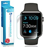 Apple Watch Series 3 Screen Protector (42mm)[6-Pack], ILLUMI AquaShield Full Coverage Screen Protector for Apple Watch Series 3 HD Clear Anti-Bubble Film
