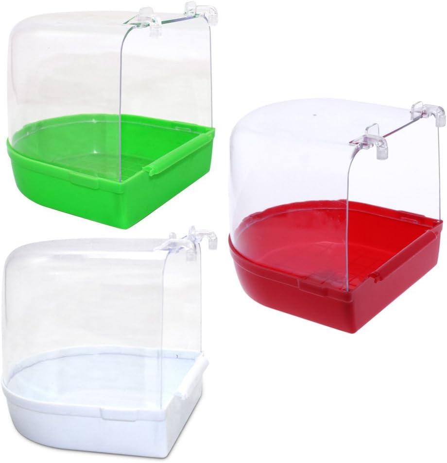Tandou Parrot Bird - Caja para bañera de pájaros, para bañera, Ducha, estantería