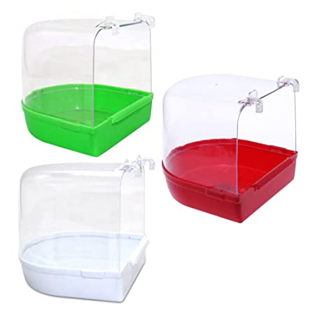 14 × 15 × 15 Cm Bird Bathtub Bath Clean Box Toy For Budgies Canary Cage Trixie Bird Supplies Pet Supplies