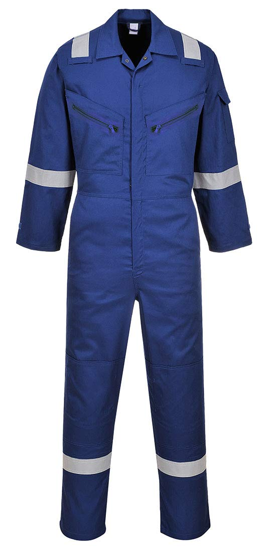 Portwest C814RBRL Iona Cotton Coverall, Fabric, Large, Royal
