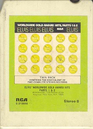 Anticuria Elvis Presley: Elvis' Worldwide Gold Award Hits, Parts 1 & 2 8 track tape (Elvis Worldwide Gold Award Hits Parts 1 2)