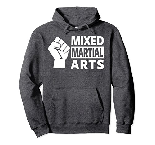 Unisex MMA HOODIE, MIXED MARTIAL ARTS HOODIE, MMA PULLOVER HOODIE Small Dark Heather
