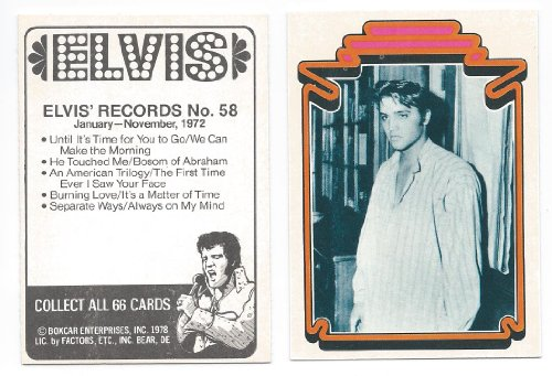 1978 Trading Card - 1978 Elvis Presley Collectible Trading Card #58