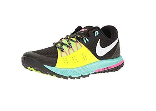 Nike Hombre Air Zoom Wildhorse 4 Running Trail Zapatos, Negro (Black/Volt)