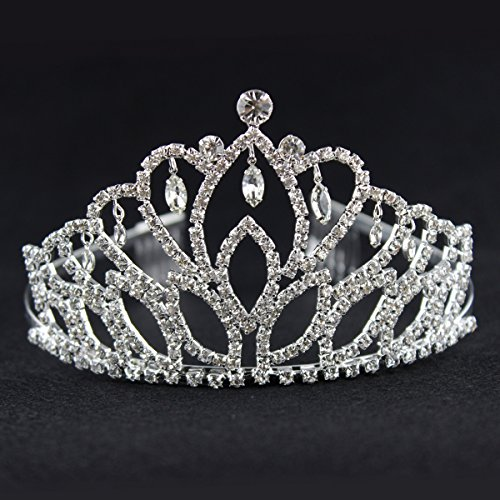 Elegant Tiara Crystal Hair Crown product image