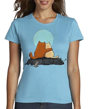 latostadora - Camiseta Dos Gatos para Mujer: crumblincookieart: Amazon.es: Ropa y accesorios