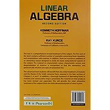 Linear Algebra : Kenneth Hoffman: Second Edition