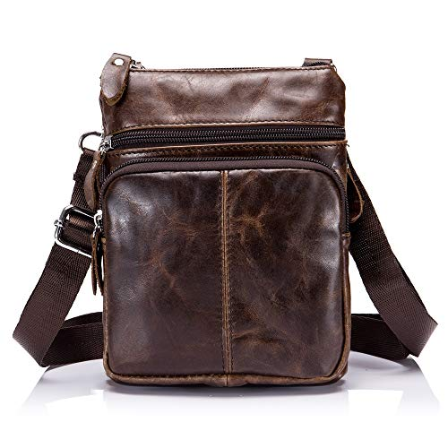 Portable Horse Yqxr Sport Crazy En amp; De Pour Homme Bags Handbags Layer À Décontracté Shoulder Head Brown Bandoulière Cuir D'affaires Sac UUHF7qx