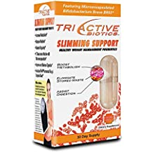 Triactive Biotics Slimming Support Healthy Weight management Probiotics 30 Capsules by Essential Source