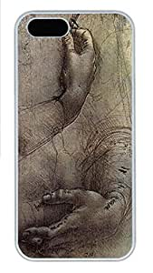 iPhone 5 5S Case Sketching Art PC Custom iPhone 5 5S Case Cover White