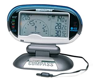 Roadpro Digital Compass, Inside & Outside Temperature, Voltage Meter and Ice Alert