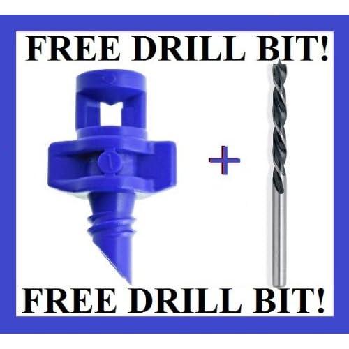 *360 Degree Hydroponic Spray Mister 50 pcs Blue + FREE Drill Bit supplier