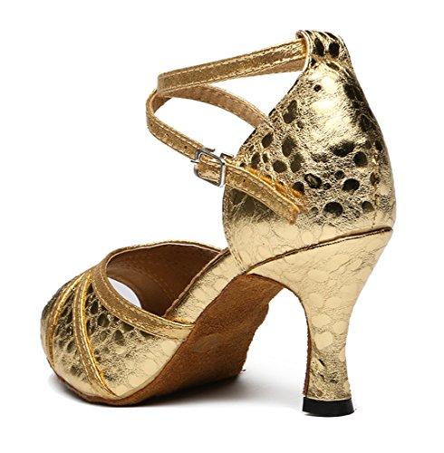 ... Tda Kvinners Ankel Strap Peep Toe Klassisk Lær Salsa Tango Ballroom  Latin Moderne Dans Bryllup Sko ...