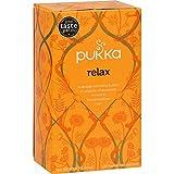 Pukka Herbal Teas Relax – Caffeine Free – 20 Bags – 95%+ Organic – Gluten Free – Dairy Free – Yeast Free – Wheat Free – Vegan For Sale