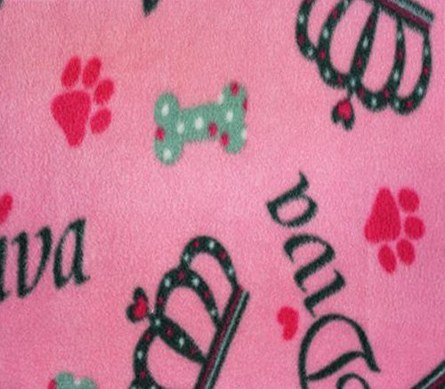 Polar Fleece Fabric Anti Pill Prints Bone Diva / 60