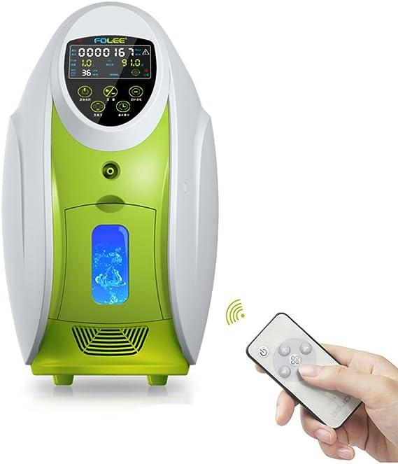 ZHongWei - máquina de oxígeno Concentrador de oxígeno - Concentrador de oxígeno portátil Generador de oxígeno en el hogar Salida 1-5L / Min. Purificador de Aire en el ...