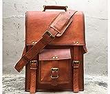 Leather Messenger Laptop Briefcase Crossbody Bag 15 inch Vintage handmade Genuine Computer for Mens Womens