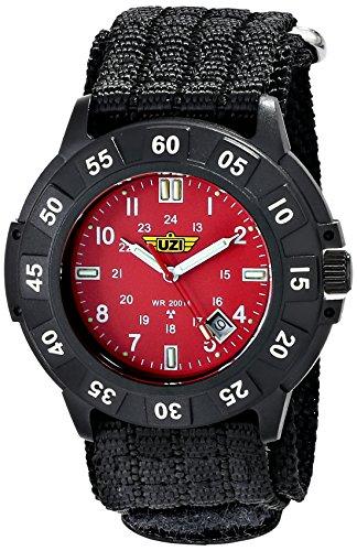 (Uzi Men's Uzi-003-N The Protector Tritium H3 Black Nylon Strap Watch)