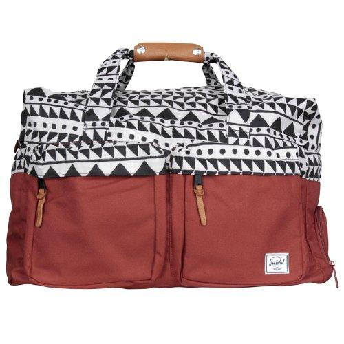 Herschel Supply Co.  Walton Duffle Bag - Chevron Black   Rust  Amazon.ca   Clothing   Accessories 996614d61fac0