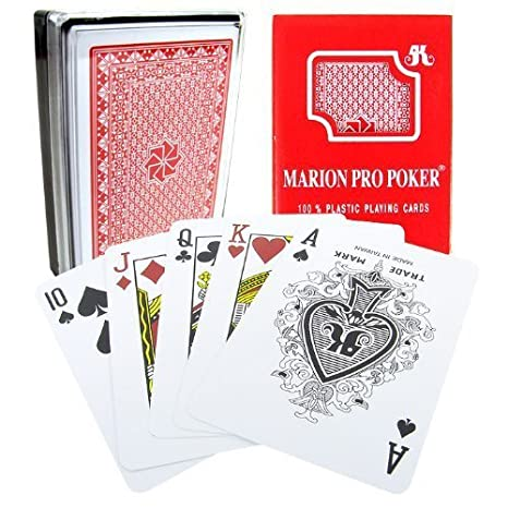 Marion Pro Regular Índice - 100% rojo plástico Poker juego ...