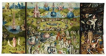 Donola Hieronymus Bosch - Toalla de baño con diseño del jardín de delicias de la Tierra (31,5