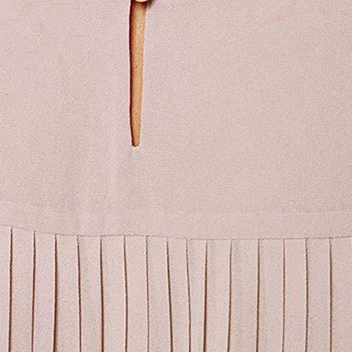 O Khaki Lunga Giovane Monocromo BOLAWOO Marca Lunghe Casual Donna Primaverile Mode Prodotto Shirts Collo Blusa Camicetta Autunno Lunga Bluse Sciolto di Maniche Plus Asimmetrica Elegante ZUUwqSva