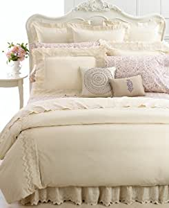 Court of Versailles Campagne Metallique Standard Pillowcase, Rich Cream/Ivory