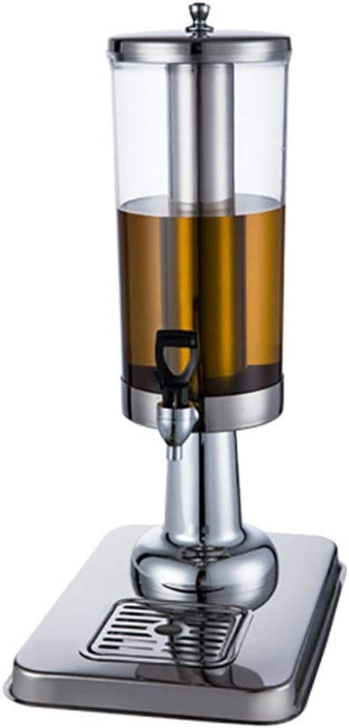 NBNBN Dispensador Casero de Cerveza 3L Acero Inoxidable dispensador de la Bebida Transparente Redonda dispensador de la Cerveza Tienda de Bebidas Cafetería Desayuno Buffet Bares Hoteles