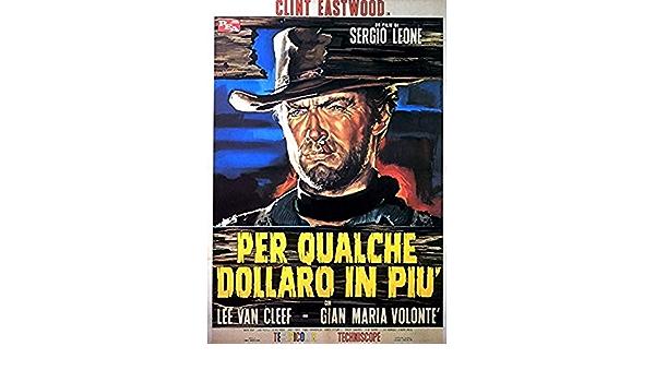Clint Eastwood Mounted /& Framed Vintage Print Per Qualche Dollaro In Piu
