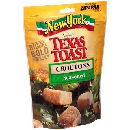 New York, The Original Texas Toast, Seasoned Croutons, 5 Oz. (Pack of 5)
