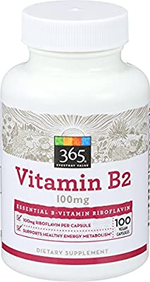 365 Everyday Value, Vitamin B2 100mg, 100 ct