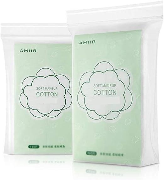 SXY 160 Piezas * 2 Piezas de algodón Removedor de Toalla de algodón Acolchado Cara de algodón Hidratante Compresa húmeda (Color : White): Amazon.es: Hogar