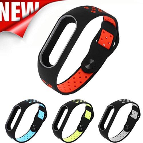 upxiang légère d'aération la Smart poignet bracelet de mode, bracelet de rechange pour Xiaomi Mi bande 2 vert