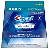 Beauty : Crest 3D White Professional Effects Whitestrips Dental Teeth Whitening Strips Kit, 20 Treatments + BONUS 1 Hour Express Whitening Strips, 2 Treatments - (PACKAGING MAY VARY)