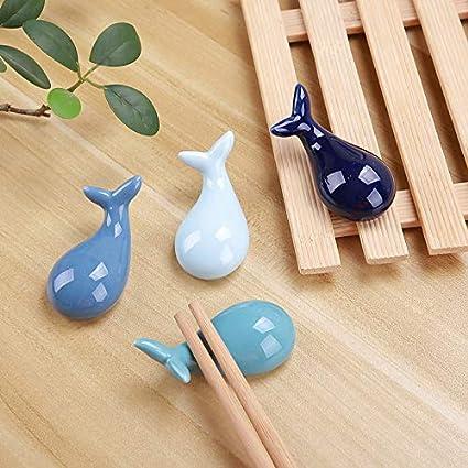 4 piezas . Navisli dise/ño de pez globo 4 piezas delf/ín As picture shows Delf/ín Juego de soporte para vajilla de cer/ámica