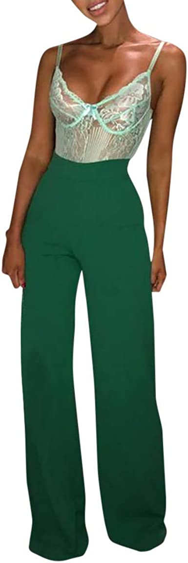 Womens Tie Up Palazzo Ladies Wide Leg Flared Plain Trouser Casual Baggy Pants