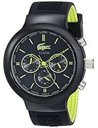 Lacoste Unisex 2010650 Boneo Black and Lime Watch