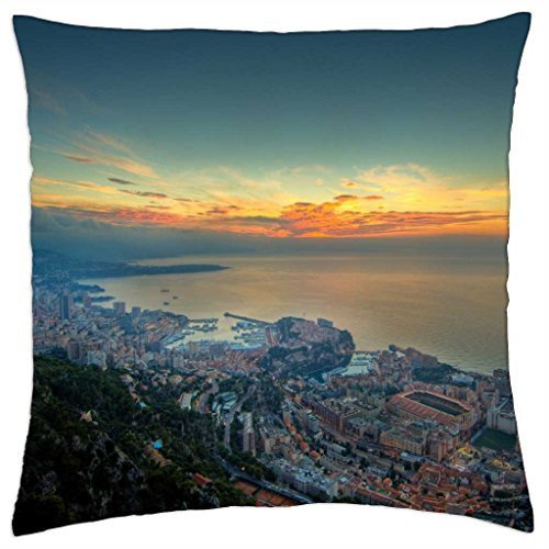beautiful monaco - Throw Pillow Cover Case (18