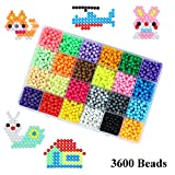 Kingtree Magic Water Sticky Beads with Tools, 30 Colors 3600 Water Fuse Beads Compatible with Aquabeads and Beados Art Crafts Toy for Kids Beginners Complete Set