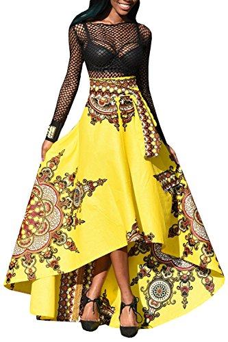 women-long-skirt-yonywa-african-fashion-floral-print-front-long-tail-short-high-waist-umbrella-shape