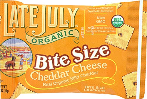 Late July (NOT A CASE) Bite Size Organic Cheddar Cheese Crackers