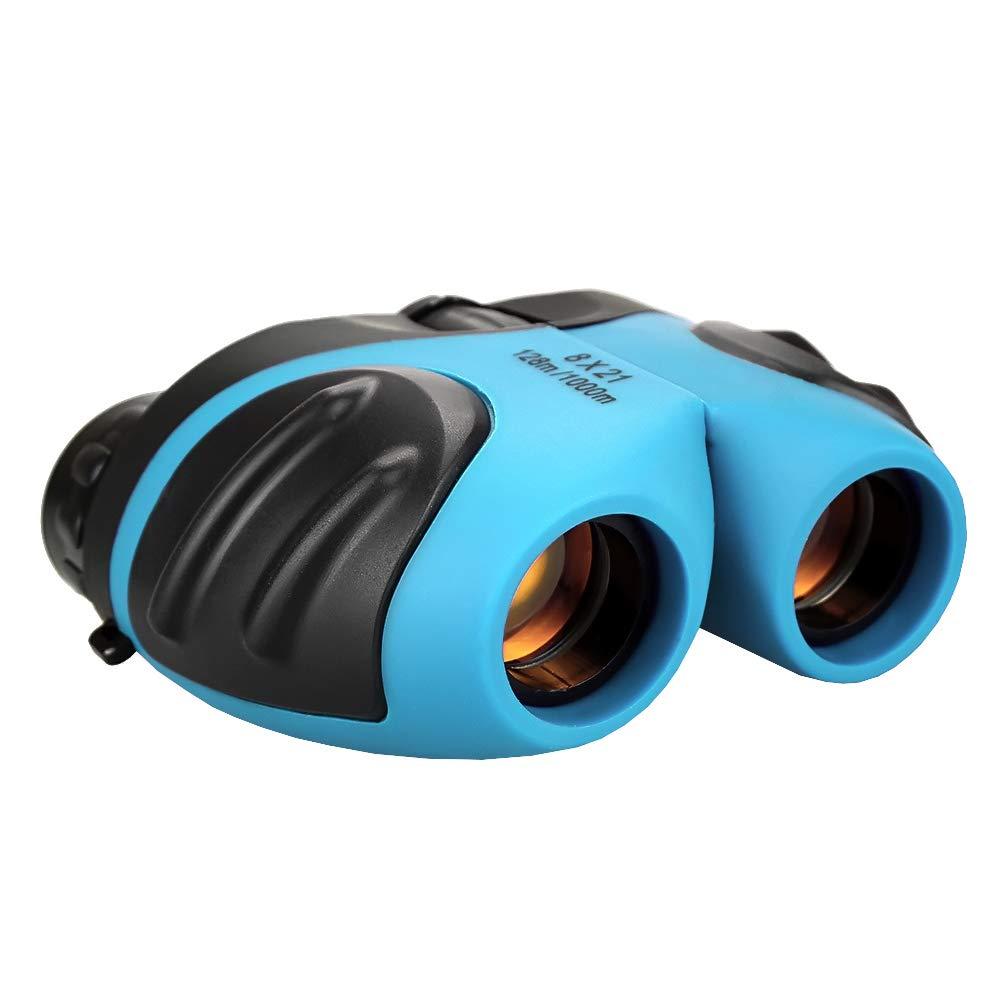 Binocular para Niños, TOP Regalo Binocular Compacto Muchacho Adolescente Regalos de Cumpleaños Regalos Juguetes para Niños 3-12 Azul TG008 TOP Gift